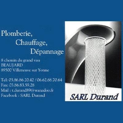 SARL DURAND Plombier Chauffagiste VILLENEUVE SUR YONNE